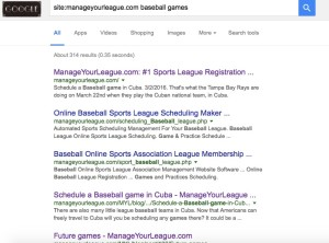 Search within manageyourleague.com